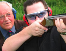 Clay Pidgeon Shooting Tutor and Pupil